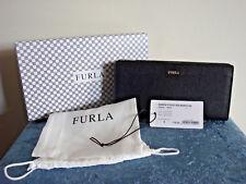 FURLA Babylon Saffiano Leather Bifold Wallet~Onyx(Black)~New!!!