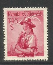 Austria 1948-52 Local Costumes 1.45s dark carmine--Attractive Topical (542) MH