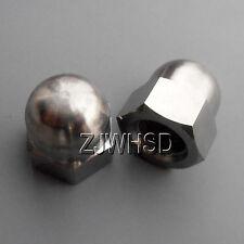 2pcs M12 x 1.25 Fine Thread Titanium Ti Acorn Hex Cap Nut / Aerospace Grade