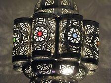 Moroccan silver Lantern-Moroccan light-Moroccan pendant light-Moroccan lighting