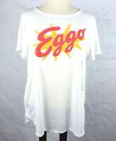 Eggo Waffle Womens T Shirt Size XL Kellog's Stranger Graphic Logo Short Sleeve