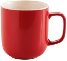Price & Kensington Set of 6 Large Mugs. Large Coffee Stoneware Mugs Bright Red