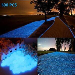 chic style 500Pcs Glow in The Dark Stones Garden Pebbles Rocks Indoor Outdoor...