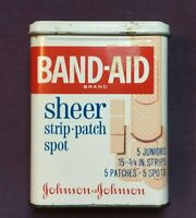 *Vintage Advertising Band Aid Tin JOHNSON & JOHNSON SHEER STRIP PATCH SPOT empty