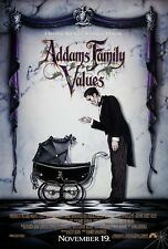 ADDAMS FAMILY VALUES (1993) ORIGINAL ADVANCE MOVIE POSTER  -  ROLLED