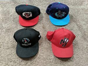 Minor League Baseball Team Fitted Hat Cap Lot of 4 New Era