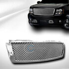 Fits 07-14 Chevy Tahoesuburbanavalanche Chrome Mesh Front Bumper Grill Grille