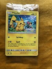 Pokemon Cards Sitting Pikachu PROMO Build-A-Bear Workshop Stamped. Rare NEW