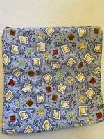 Fabric, Clothworks, Tea Party, Blue, Diane Knott, By The Yard