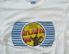 1988 T-Shirt: 'Democratic National Convention' - Atlanta, Georgia GA - Donkey