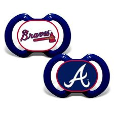 Atlanta Braves Baby Pacifier Set of 2 - Officially Licensed MLB BPA Free