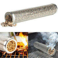 12 inch Smoker Tube BBQ Wood Pellet Smoke Box Charcoal Gas Grill Grilling Meat