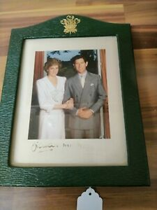 Signed Photograph The Prince and DIANA PRINCESS of WALES 1990