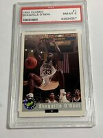 1992 CLASSIC SHAQUILLE O'NEAL PSA NEAR MINT 8 #1 (MR) ROOKIE CARD RC