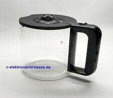 Siemens Glaskanne schwarz, Soft-Grip + Deckel passend für TC80104 Cranberry Red