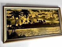 Vtg Orig Photographic Print by H C Company Tinted Hawaiian Wide Angle Landscape