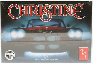New! AMT Christine Model Kit ~ Molded in White ~ 1/25 Scale ~ 1958 Plymouth Fury