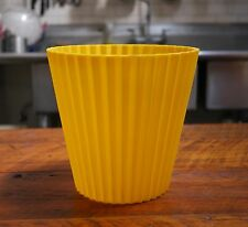 Vintage 1960s FESCO Pop Art Bright Yellow Waste Paper Basket Trash Can 4836