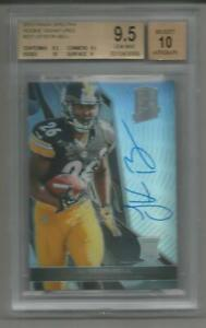 LE'VEON BELL 2013 PANINI SPECTRA AUTH. ON CARD AUTOGRAPH ROOKIE #221 BGS 9.5