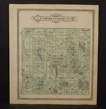 Wisconsin Washburn County Map Casey Township 1915  L13#91