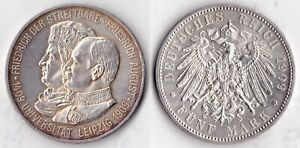 RARE 5 Mark 1909 500 University of Leipzig 500 years 1409 to 1909 1 YEAR MINTAGE