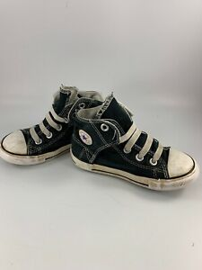 Pair Of Child/Infant Size 10 Medium Gray Canvas Cruz Jr Sperry Top-Sider Shoes