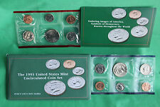 1993 United States Mint Uncirculated P and D 10 Coin Set BU Complete