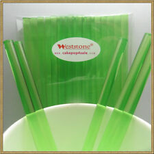 Heavy duty Solid Green - 40pcs 6 in x 7/32 Acrylic Sticks For Apple Candy