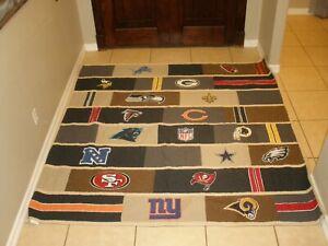 "Pottery Barn Teen NFL Football Team Logos Full/Queen Quilt Blanket 82"" x 84"""