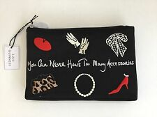 Lulu Guinness You Can Never Have Too Many Accessories Make Up Bag New with Tags
