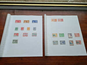 Set of 21 British Commonwealth Stamps St KITTS NEVIS CHRISTOPHER ANGUILLA KGVI