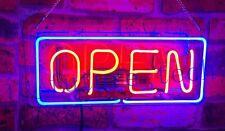 Open Cafe Business Neon Sign Lamp Light Acrylic Beer Bar With Dimmer