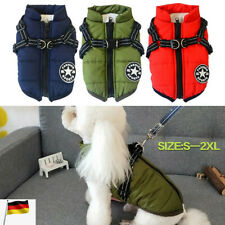 Haustier Hund Katze Kleidung Fleece Warme Weste Mäntel Jacke Hundepullover DE