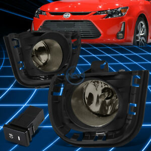 For 14-16 Scion tC Smoked Lens Front Driving Fog Light Lamps+Switch Replacement