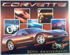 Corvette-50th Anniversary #1015 Vintage reproduction, Garage, Man Cave