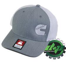 Dodge Cummins trucker hat richardson light Gray denim white mesh flex fit sm/md