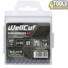 20 Pcs PZ2 25mm Long High Quality Screwdriver Bits