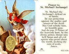 St. Michael the Archangel Prayer Card (RCC 9E), New, Free Shipping