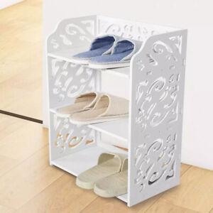 3 Tiers Shoe Cabinet Storage Shoes Footwear Stand Rack Shelving Unit Display UK