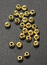 """25 Premium GOLD  3.3mm   1/8""""  Beads Bead Heads for Fly Tying"""