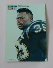 AMERICAN FOOTBALL CARD PRO SET 1991 # 416 ALL NFC TEAM MARION BUTTS RB CHARGERS