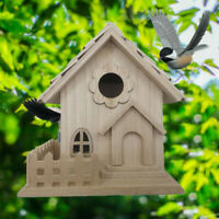 Creative en Bois Maison Oiseau Nichoir Suspendu Nid Crochet Décoration Jardin