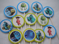 Monsters Inc Cupcake Toppers Birthday Party NEW 12 pack