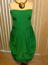 SEE BY CHLOE STRAPLESS DRESS WITH POCKETS TULIP STYLE GREEN COLOR   Sz.4