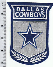"Vintage 1990s Dallas Cowboys 5"" High Crest Shield Patch NFL (sew on)"