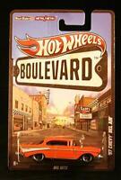 Hot Wheels Boulevard - RR - Metal/Metal - Orange '57 Chevy Bel Air - 2010