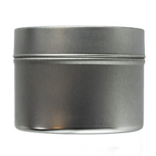 Small Silver Seamless Tin 100ml - Candle Making Storage Sweets Wedding Favour