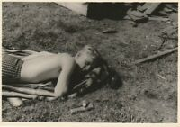 Vintage photograph, handsome shirtless young man, gay interest