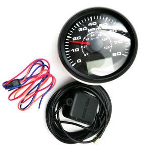 Waterproof 0-80MPH GPS Speedometer 0-120km/h Speed Odometer Trip Meter Cog