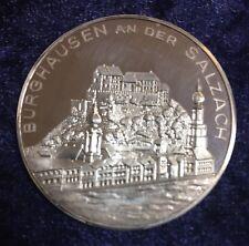 Silbermedaille Burghausen an der Salzach silber 986 gepunzt